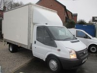 2012 FORD TRANSIT LUTON WITH ALLOY TAIL LIFT TWIN REAR WHEELS 125 psi TURBO DIESEL SIX SPEED ONE OWNER N.H.S FULL SERVICE PRINT OUT  £8500.00