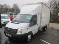 2012 FORD TRANSIT 2.2 350 DRW 125 BHP  LUTON WITH TAIL LIFT  EX N.H.S FULL DEALER SERVICE HISTORY SPARE KEY WARRANTY GIVEN  £8500.00