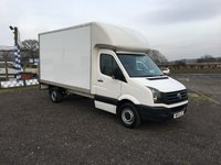 2015 VOLKSWAGEN CRAFTER CR35 2.0 TDI 109 BHP LWB LUTON VAN WITH TAIL LIFT £13995.00