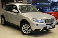 USED 2012 61 BMW X3 3.0 XDRIVE 30D SE 5d AUTO 255 BHP BMW SPECIALIST SERVICE HISTORY + NEVADA BLACK LEATHER SEATS + FOUR WHEEL DRIVE + 17 INCH ALLOYS + CRUISE CONTROL + BLUETOOTH + XENON HEADLIGHTS
