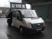 2006 FORD TRANSIT 115T 350 DOUBLE CREW CAB 'ONE STOP' TIPPER £6995.00