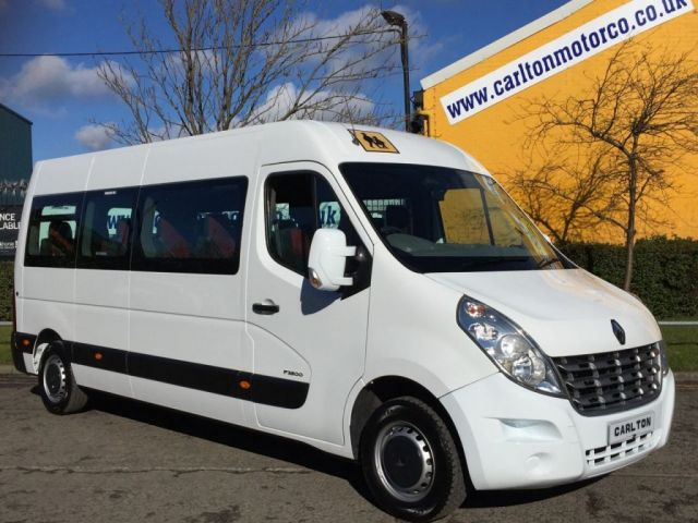 2011 61 RENAULT MASTER MINIBUS 2.3 LM39 DCI 17 Seat  Tachograph Ex Lease Free UK Delivery