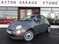 2013 FIAT 500 1.2 LOUNGE 3d 69 BHP **PANROOF*LEATHER*SENSORS** £6444.00