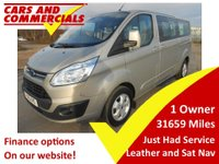 2015 FORD TOURNEO CUSTOM L2 9 seat LIMITED Titainium TDCI 125ps Leather Nav £16995.00