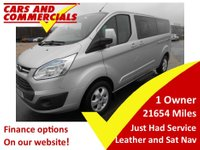 2015 FORD TOURNEO CUSTOM L2 LIMITED TitainiumTDCI 125ps Leather Nav £18900.00