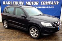 USED 2009 09 VOLKSWAGEN TIGUAN 2.0 ESCAPE TDI 5d 138 BHP !!!!!ONLY ONE AT £7999!!!!! WITH 66,000 MILES IN METALLIC DEEP BLACK PEARL V/W TIGUAN 2.0 TURBO DIESEL ESCAPE WITH  ALLOYS,AIR CON