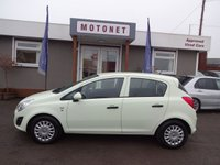 2012 VAUXHALL CORSA 1.2 S AC 5DR HATCHBACK 1 OWNER FROM NEW £4444.00