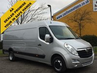 USED 2012 62 VAUXHALL MOVANO R3500 L4H2 HD XLWB 2.3CDTI panel van DRW Ex lease FSH Free uk Delivery
