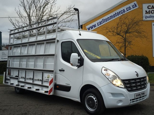 2011 61 RENAULT MASTER LM35 DCI 125 L3 H2 [ Glaziers Glass Frail+Roof Racks ] van Ex Lease Printout Free UK Delivery