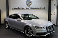 USED 2012 61 AUDI A7 3.0 TDI S LINE 5DR AUTO 204 BHP + AUDI SERVICE HISTORY + FULL BLACK LEATHER INTERIOR + SATELLITE NAVIGATION + BLUETOOTH + HEATED SPORT SEATS + HEATED REAR SEATS + XENON LIGHTS + CRUISE CONTROL + S LINE SPORT SEATS + PARKING SENSORS + 19 INCH ALLOY WHEELS +
