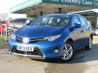 USED 2013 13 TOYOTA AURIS 1.6 ICON VALVEMATIC 5d 130 BHP Check out our 5* Reviews!