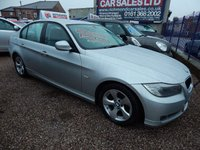 USED 2011 11 BMW 3 SERIES 2.0 320D EFFICIENTDYNAMICS 4d 161 BHP BLACK LEATHER INTERIOR, FULL SERVICE HISTORY