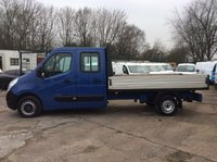 2012 RENAULT MASTER 2.3 LL35 DCI L/R125 BHP DOUBLE CAB ALLOY DROPSIDE AIR CON £7950.00