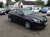 USED 2013 62 CHEVROLET CRUZE 1.6 LT 5d 124 BHP PRICE INCLUDES A 6 MONTH RAC WARRANTY, 1 YEARS MOT AND A OIL & FILTERS SERVICE AND 12 MONTHS FREE BREAKDOWN COVER.