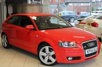 USED 2006 55 AUDI A3 2.0 T FSI QUATTRO S LINE 3d 197 BHP HALF BLACK LEATHER SEATS + FULL SERVICE HISTORY + 18 INCH ALLOYS + ELECTRIC WINDOWS + AIR CONDITIONING