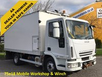 USED 2007 07 IVECO-FORD EUROCARGO 75E18 [ Mobile Workshop & Winch] Box van Euro-5 Low mileage Free Uk Delivery