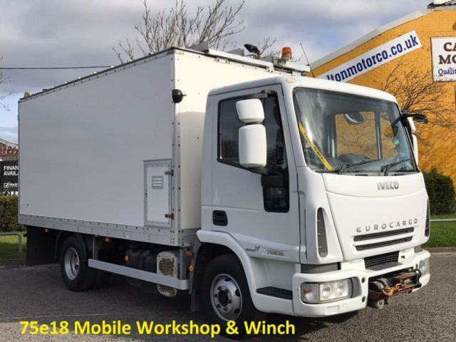 2007 07 IVECO-FORD EUROCARGO 75E18 [ Mobile Workshop & Winch] Box van Euro-5 Low mileage Free Uk Delivery