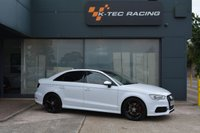 USED 2016 16 AUDI A3 2.0 S3 QUATTRO NAV 4d 296 BHP AUDI DESIGN RED/BLACK LEATHER INTERIOR, PANORAMIC ROOF, B&O STEREO, FRONT AND REAR PARKING SENSORS WITH REVERSE CAMERA