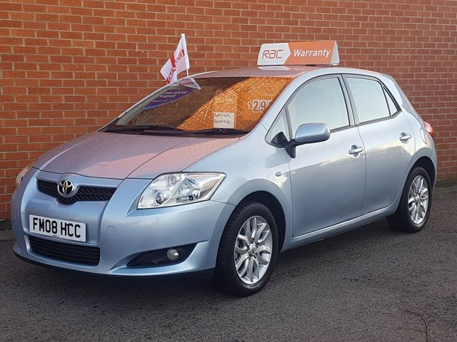 2008 08 TOYOTA AURIS 1.6 T3 VVT-I 5 Door