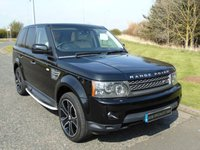 USED 2009 59 LAND ROVER RANGE ROVER SPORT 3.0 TDV6 HSE 5d AUTO 245 BHP IVORY LEATHER, STEPS, PRIVACY GLASS