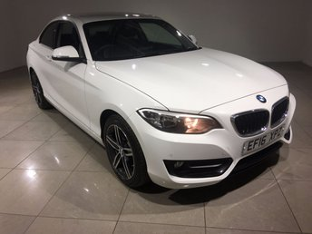 2016 BMW 2 SERIES 2.0 218D SPORT 2d 148 BHP £19990.00