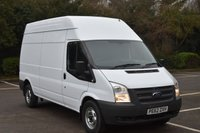 USED 2012 62 FORD TRANSIT 2.2 T350 RWD 5d 124 BHP LWB HIGH ROOF DIESEL MANUAL PANEL VAN  ONE OWNER,FSH ,EURO 5 ENGINE,SIX SPEED
