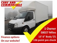 USED 2014 14 FORD TRANSIT LUTON 350 LWB EF 125ps [DRW] Tail Lift 4 meter body Tail Lift