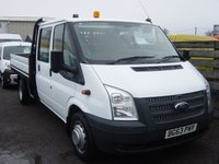 USED 2013 63 FORD TRANSIT 2.2 350 DRW 1d 124 BHP DOUBLE CAB DROPSIDE ONLY 38000 MILES