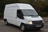USED 2012 62 FORD TRANSIT 2.2 T350 RWD 5d 124 BHP LWB HIGH ROOF DIESEL MANUAL PANEL VAN  ONE OWNER,FSH,P/CAMERA,EURO 5 ENGINE