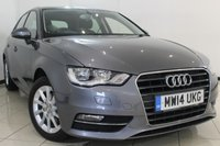 USED 2014 14 AUDI A3 1.2 TFSI SE 5DR 104 BHP AUDI SERVICE HISTORY + AIR CONDITIONING + SAT NAVIGATION + BLUETOOTH + ALLOY WHEELS