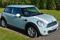 2013 MINI HATCH ONE 1.6 ONE 3d 98 BHP £7995.00