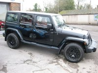 USED 2014 64 JEEP WRANGLER 2.8 SAHARA UNLIMITED CRD 4d AUTO 197 BHP Khan Design Full Red Leather