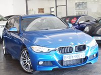 USED 2013 63 BMW 3 SERIES 3.0 330D XDRIVE M SPORT TOURING 5d AUTO 255 BHP SAT NAV+LEATHER+4WD+FSH