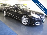 USED 2010 MERCEDES-BENZ E CLASS 3.0 E350 CDI BLUEEFFICIENCY SPORT 2d AUTO 231 BHP MERCEDES E350 SPORT CONVERTIBLE WITH OVER £6,000 WORTH OF FACTORY EXTRAS