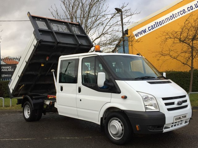 2011 61 FORD TRANSIT 140 T350 D/Cab Tipper Alloy Body 2.4Tdci 6-speed DRW Ex Major PLC Free UK Delivery