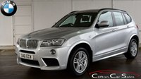 USED 2011 61 BMW X3 3.0d X-DRIVE M-SPORT AUTO 255 BHP Finance? No deposit required and decision in minutes.