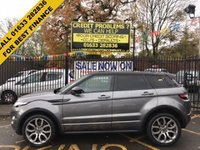 USED 2015 15 LAND ROVER RANGE ROVER EVOQUE 2.2 SD4 DYNAMIC LUX 5d AUTO 190 BHP STUNNING ORKNEY GREY METALLIC,REVERSE CAMERA, MASSIVE SPEC EXAMPLE.  FULL BLACK LEATHER INTERIOR, PANORAMIC GLASS ROOF, SAT NAV, TV, CD, 20 INCH ALLOY WHEELS, PARKING SENSORS