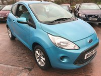 USED 2009 09 FORD KA 1.2 STYLE 3d 69 BHP ONLY 48,000 MILES, FULL SERVICE HISTORY, ALLOY WHEELS, RADIO/CD WITH AUX, ELECTRIC WINDOWS, CUP HOLDERS, ELECTRIC ADJUSTABLE WING MIRRORS, CENTRAL LOCKING, POWER STEERING, HEATED REAR WINDOW, 12V 180W POWER OUTLET, BODY COLOURED BUMPERS, TRIP COMPUTER, RANGE CALCULATOR, CLOTH INTERIOR,