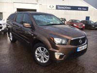 2015 SSANGYONG KORANDO SPORTS 2.0 EX D/CAB 153 BHP PICK-UP 4WD £15795.00