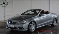USED 2010 60 MERCEDES-BENZ E CLASS E250CGi BlueEFFICIENCY SPORT CONVERTIBLE AUTO 204 BHP