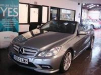 2010 MERCEDES-BENZ E CLASS 1.8 E200 CGI BLUEEFFICIENCY SPORT 2d AUTO 184 BHP £SOLD