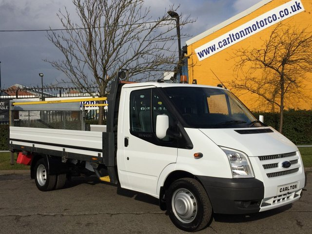 2012 62 FORD TRANSIT 125 T350 EF DROPSIDE + TAIL LIFT 13.5FT ALLOY BODY DRW EX LEASE FSH FREE UK DELIVERY