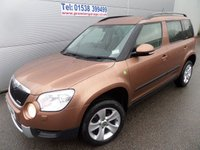2012 SKODA YETI 1.6 ELEGANCE GREENLINE II TDI CR 5d 103 BHP FULL LEATHER, 61000 MILES £8995.00