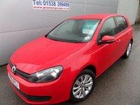 2011 VOLKSWAGEN GOLF 1.4 SE TSI 5d 121 BHP 6 SPEED 44000 MILES, BRIGHT RED  £6995.00