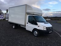 2013 FORD TRANSIT 350 125PS EXTRA LWB LUTON VAN WITH TAIL LIFT £10495.00