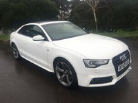 USED 2013 62 AUDI A5 3.0 TDI S LINE BLACK EDITION 2d AUTO 204 BHP BLACK EDITION IN WHITE WITH FSH 3.0 DIESEL PAN ROOF