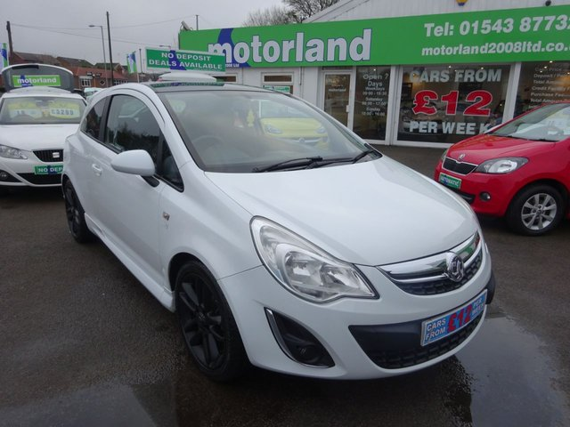 USED 2012 12 VAUXHALL CORSA 1.2 LIMITED EDITION 3d 83 BHP **FULL SERVICE HISTORY** NO DEPOSIT DEALS 01543 877320