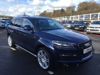 USED 2009 09 AUDI Q7 3.0 TDI QUATTRO S LINE 5d AUTO 240 BHP 21 inch alloys, side bars, privacy glass ++ Supplied by ourselves service history