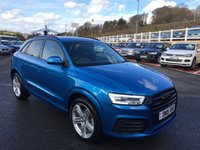 USED 2015 15 AUDI Q3 2.0 TDI QUATTRO S LINE PLUS 5d AUTO 182 BHP High spec S-Line PLUS with BLACK Package, plus Audi Sat Nav, Multimedia, DAB, 19 inch triple spoke +++ Only 7,000 miles