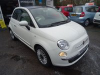 USED 2012 12 FIAT 500 1.2 LOUNGE 3d 69 BHP Low Mileage, Just Serviced by ourselves, NEW MOT (no advisories), One Previous Owner